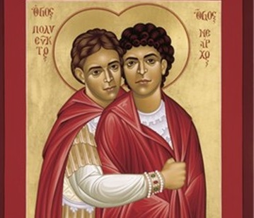 LGBTQ saints Polyeuct and Nearchus by Robert Lentz
