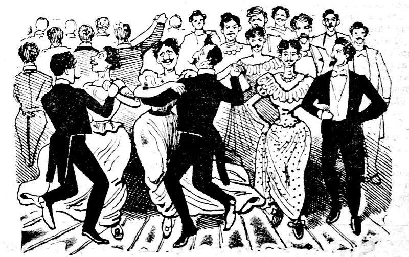 Dance of the 41 Queers)by Jose Guadalupe Posada