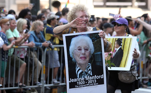 Jeanne Manford sign at San Francisco Pride 2013. Photo by Quinn Dombrowski