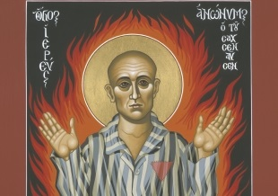Holy Priest Anonymous One of Sachsenhausen by William Hart McNichols