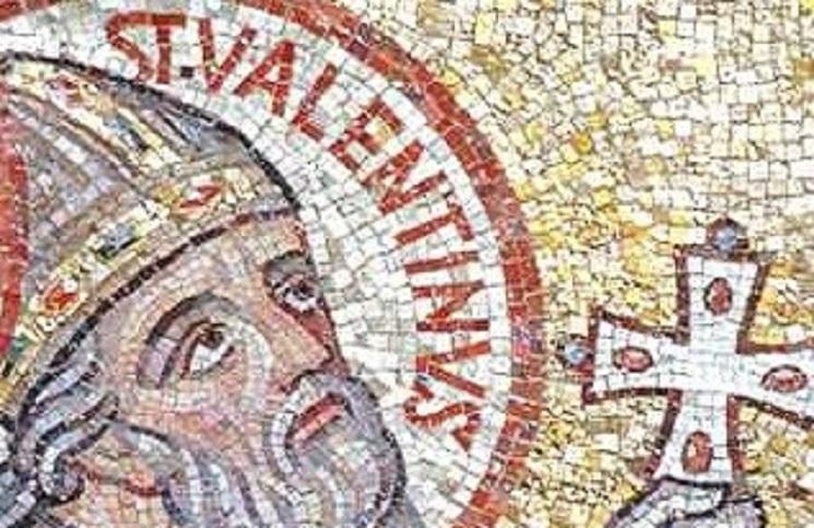 Saint Valentine mosaic