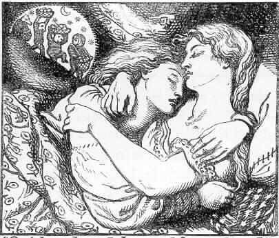 "Illustration for Christina Rossetti's ""Goblin Market"" by Dante Gabriel Rossetti"