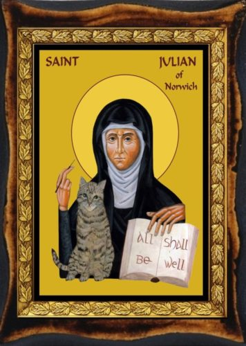 Julian of Norwich with cat