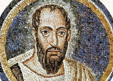 Mosaico del apóstol Pablo